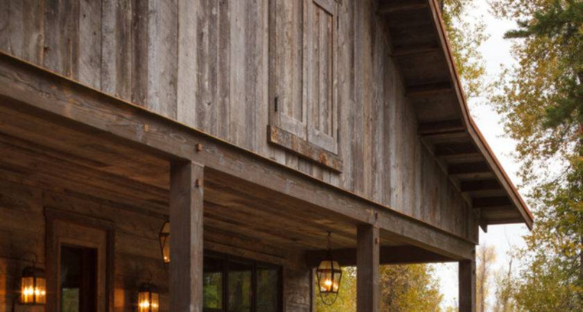 Pole Barn Ideas Exterior Rustic Front Porch Reclaimed