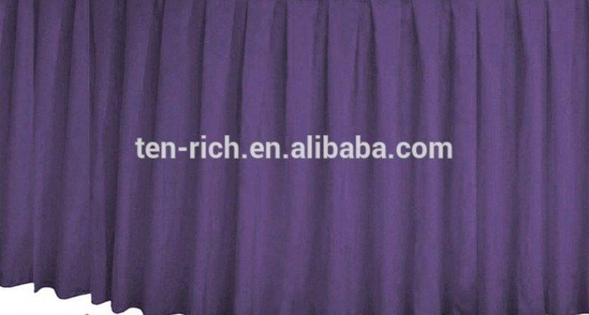Polyester Suede Table Skirts Hotel Banquet