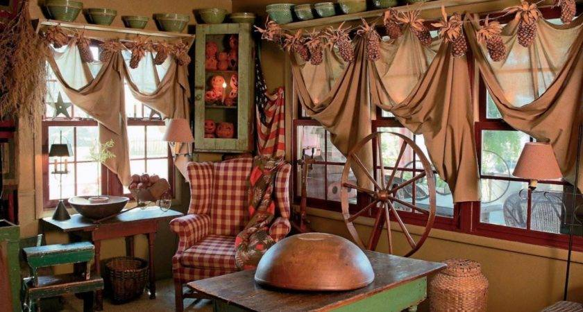Popular Primitive Curtains Living Room