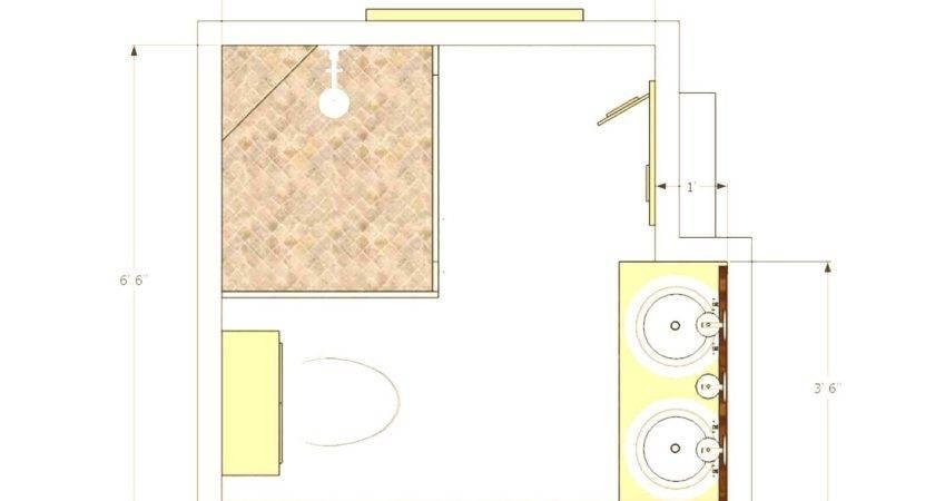 Popular Small Bathroom Floor Plans Master