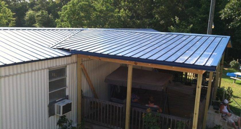 Porches Patio Covers More Brown Metal Roofing