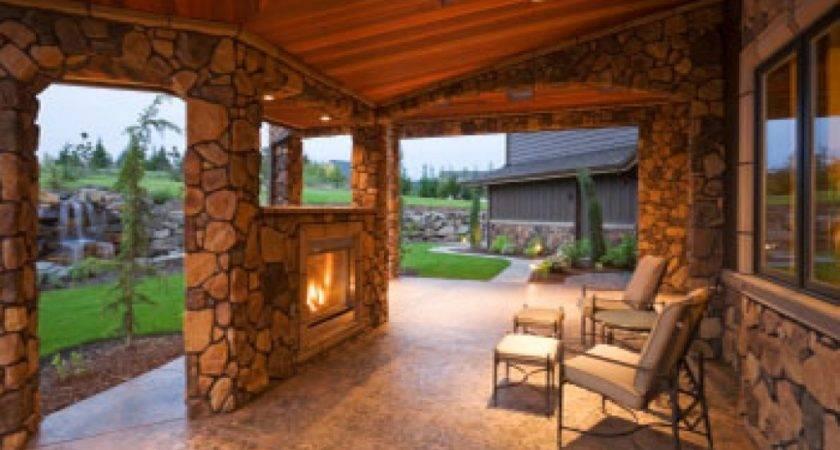 Porches Patios Enclosed Covered Back Porch Designs