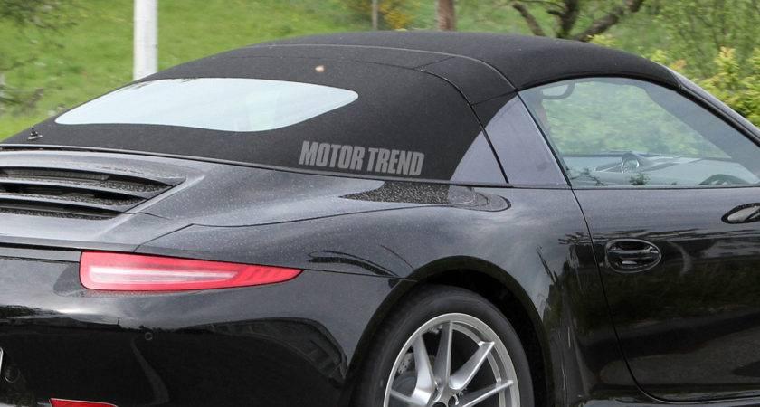 Porsche Targa Roof Closeup Spied
