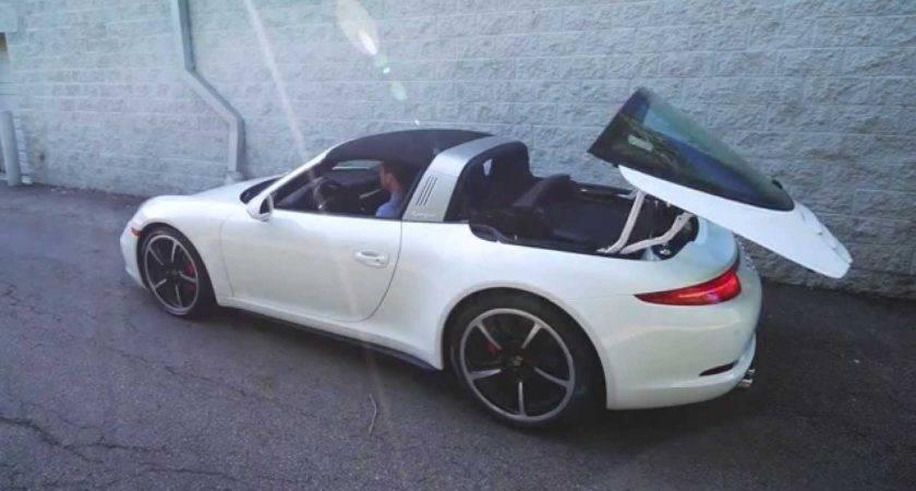 Porsche Targa Roof Mechanism Operatio