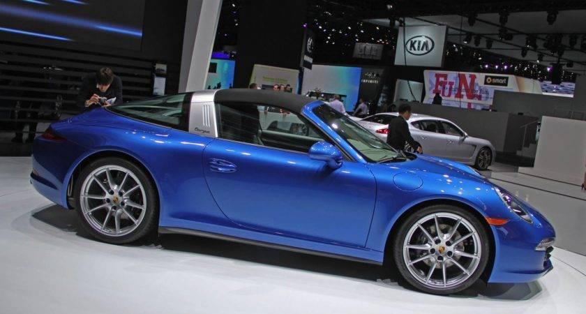 Porsche Targa Takes Its Roof Down Detroit Live