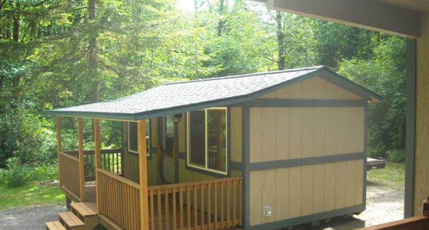 Portable Cabin Porch Backyardbuildingsllc