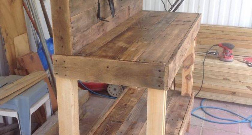 Potting Bench Made Wooden Pallets Pallet Ideas