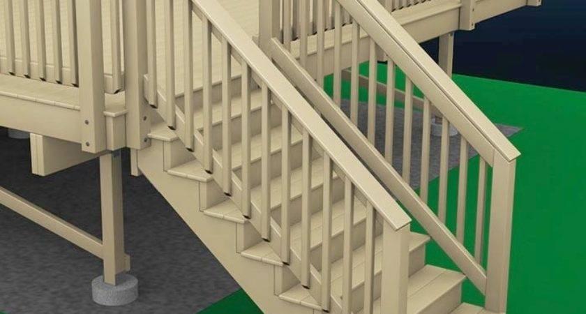 Pre Built Deck Stairs Modern Style Home Design Ideas