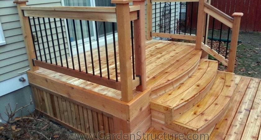 Pre Made Deck Steps Design Ideas