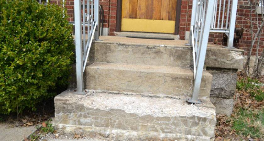 Premade Steps Porch Replacing Our Crumbling Concrete