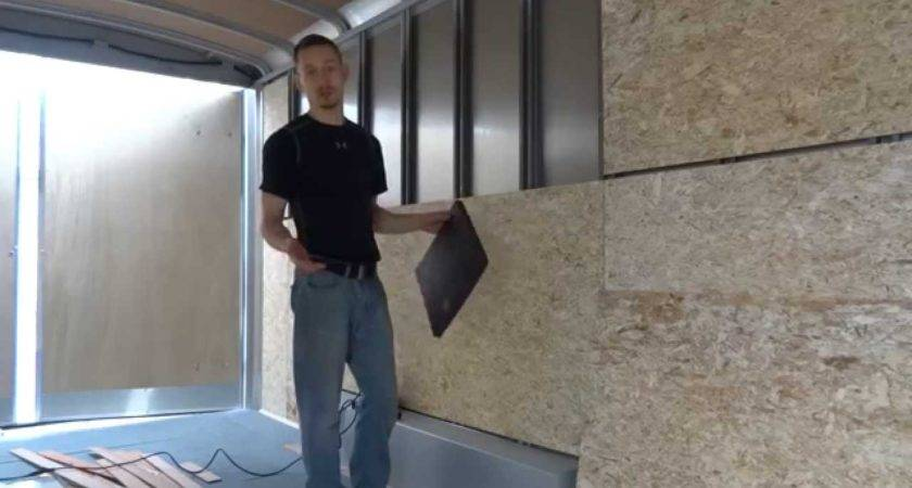 Prepping Walls Insulation Cargo Trailer Tiny