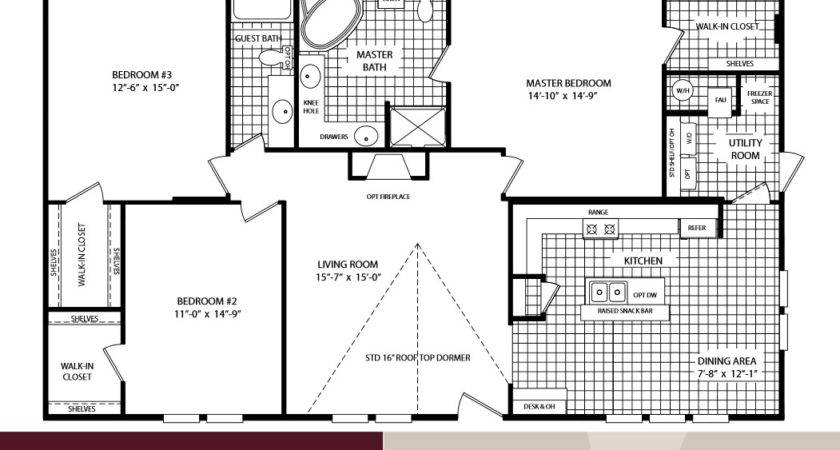 Pretty Bedroom Bath House Plans Cavco Homes Double