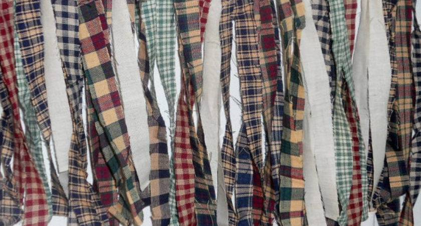 Prim Homespun Fabric Rag Strips Primitive Country Decor Muslin