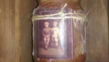 Primitive Ancestor Grubby Mason Jar Candle Cplg