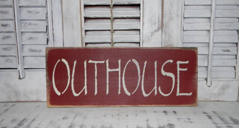 Primitive Bathroom Sign Country Home Decor