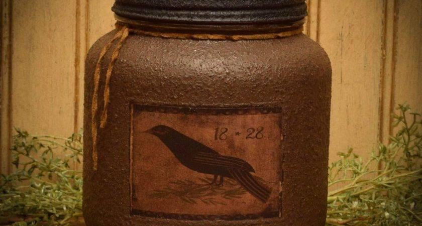 Primitive Bird Jar Candle Herbal Star Candles