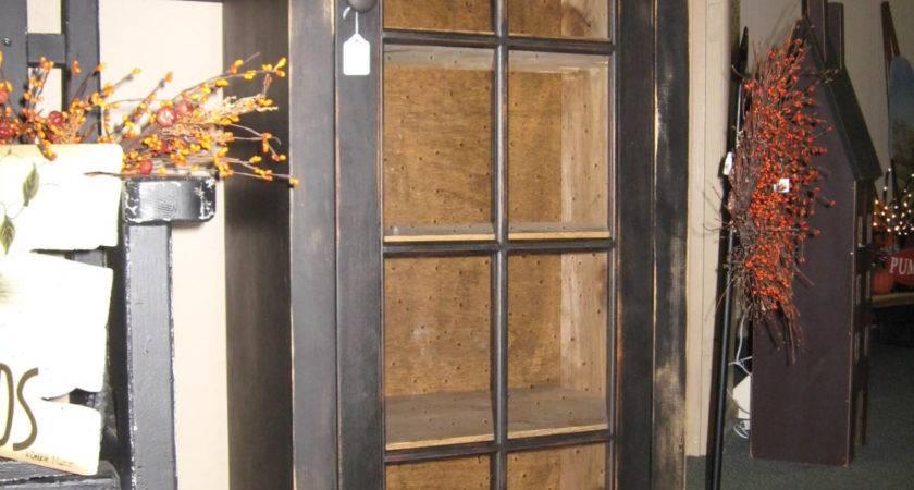 Primitive Cabinet Glass Door
