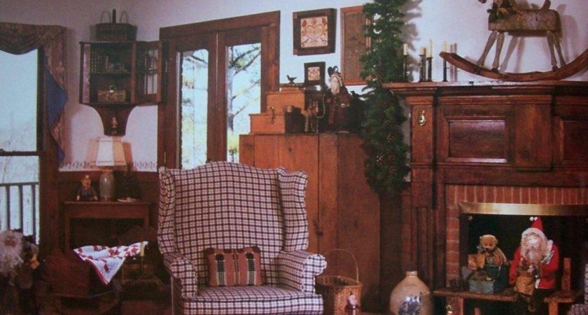 Primitive Country Bathroom Warm Home Design
