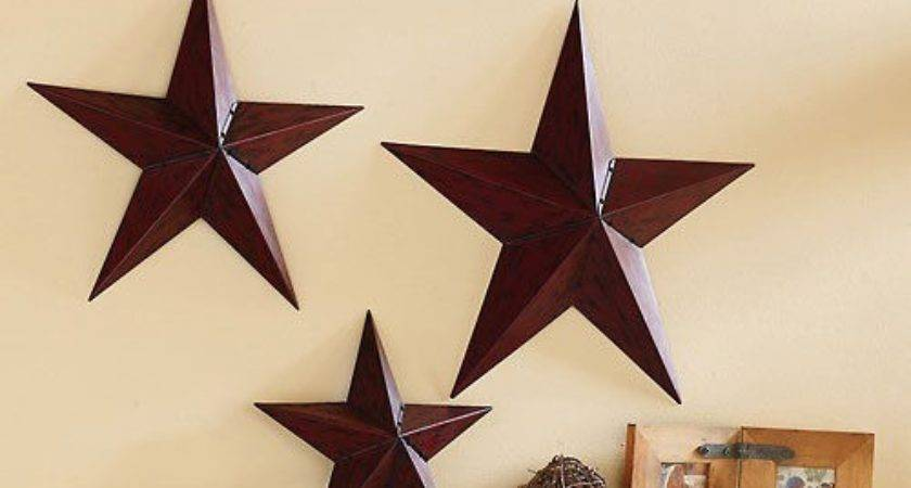 Primitive Country Folk Art Star Shutters Bows