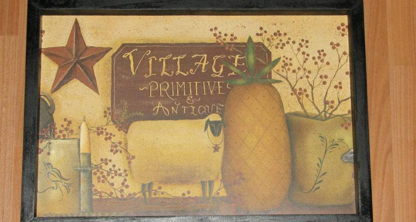 Primitive Country Village Antique Primitives Wall Decor