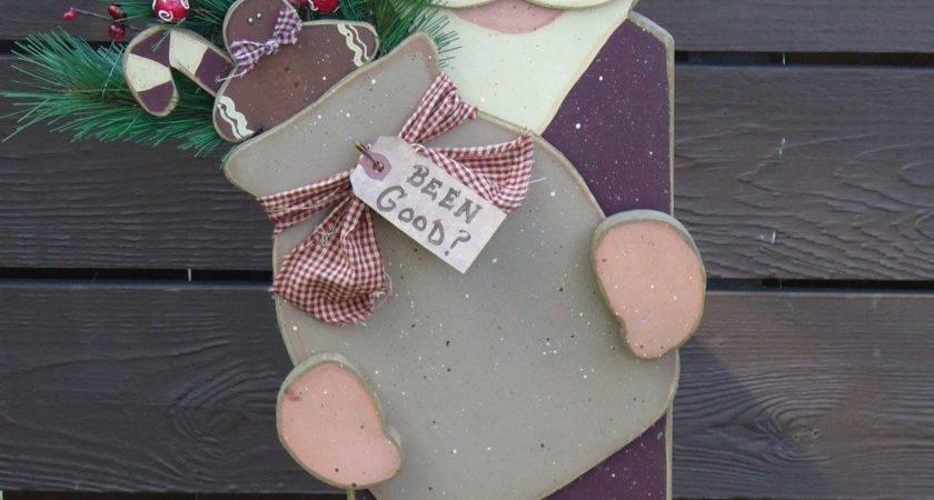 Primitive Crafts Santa