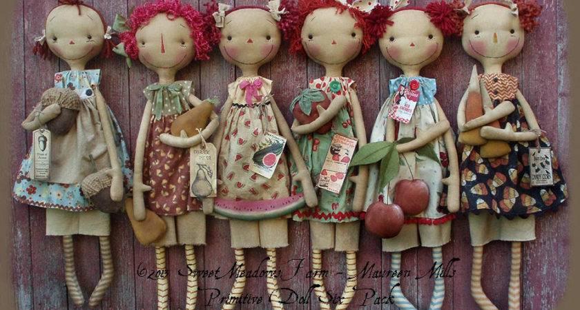 Primitive Doll Pattern Six Pack Seasonal Raggedies