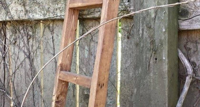 Primitive Early American Ladder Aged Antiqued Home Decor