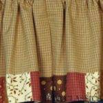 Primitive Kitchen Curtains Rustic Look