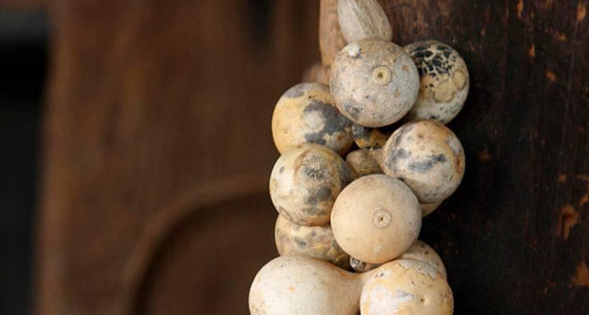 Primitive Mini Gourd Garland Nutmeg