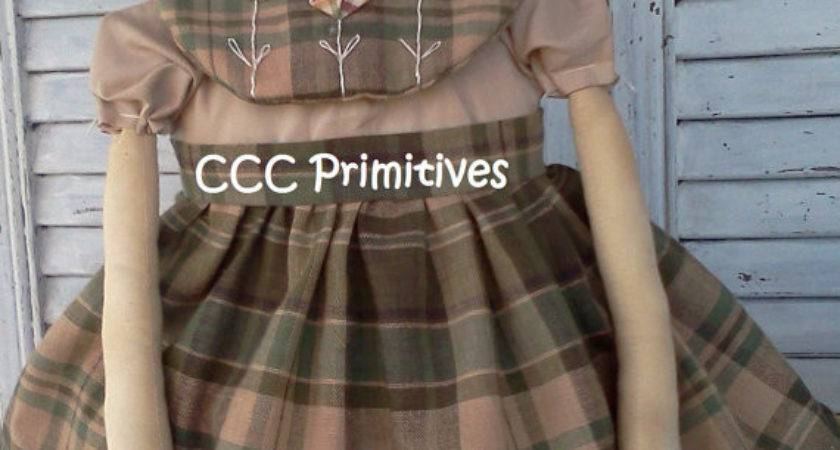Primitive Pattern Homespun Annie Rag Doll