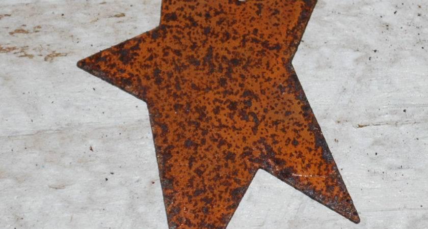 Primitive Rusty Tin Stars Crafts Ebay