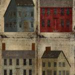 Primitive Saltbox Houses Art Sheet Instant