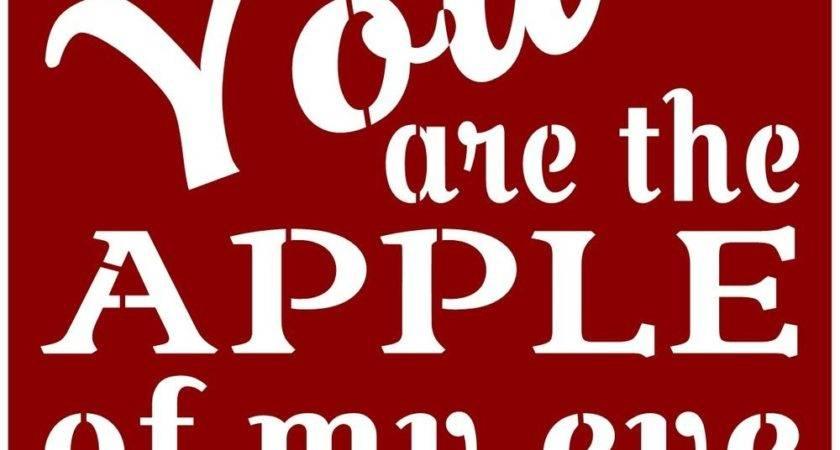 Primitive Stencil Signs Apple Eye