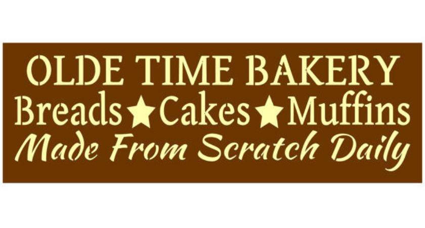 Primitive Stencil Signs Olde Time Bakery Breads Cakes