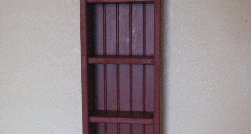 Primitive Wood Ladder Shelf