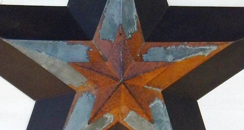 Primitve Barn Star Patriotic Rustic Wall Hanging