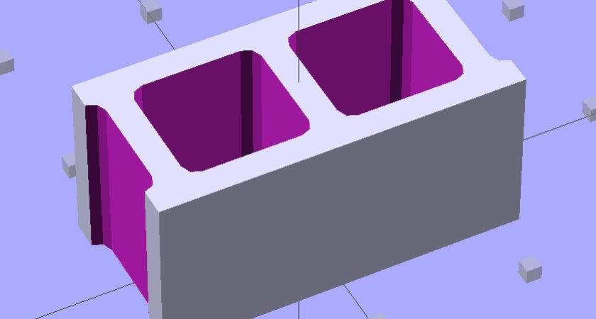 Printing Scale Model Concrete Blocks Smell Molten