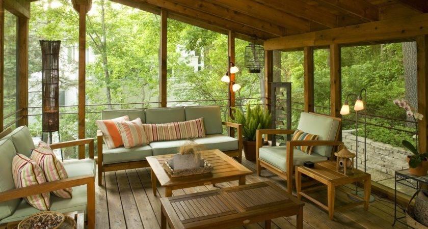 Private Yet Open Air Back Porch Idea Furniture Ideas