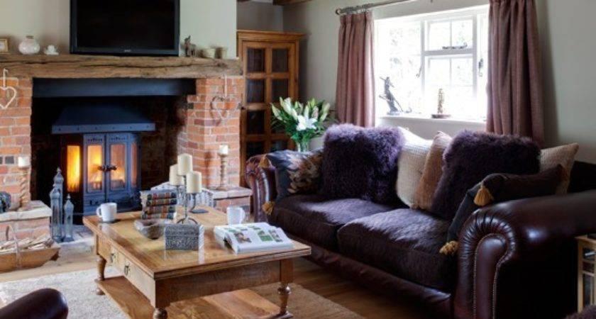 Purple Wood Country Living Room Housetohome