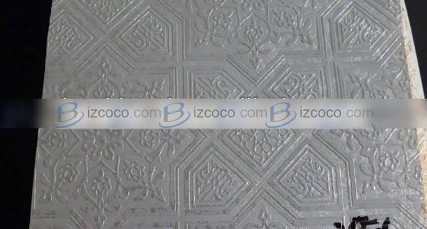 Pvc Laminated Gypsum Ceiling Tiles Coated