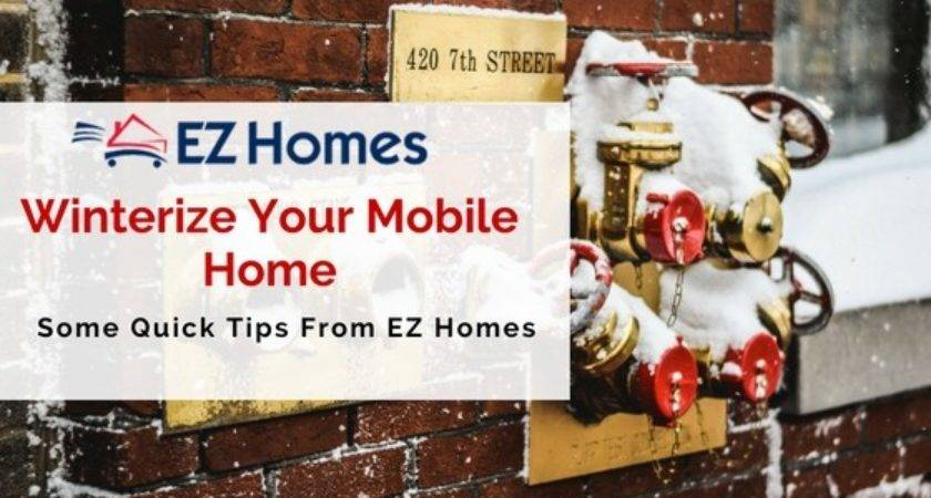 Quick Tips Winterizing Your Mobile Home