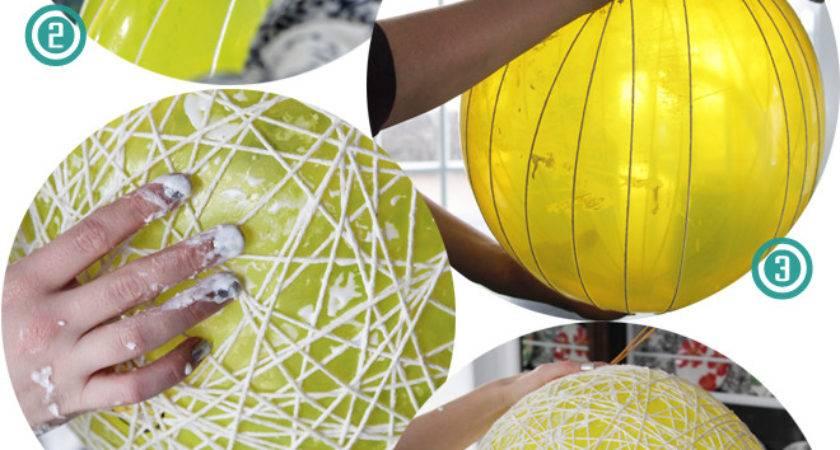 Raechel Myers Try Yarn Ball Light Fixture