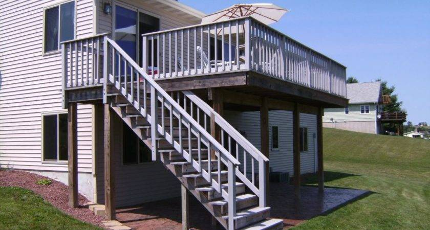Raised Deck Design Lighting Furniture Front Porch