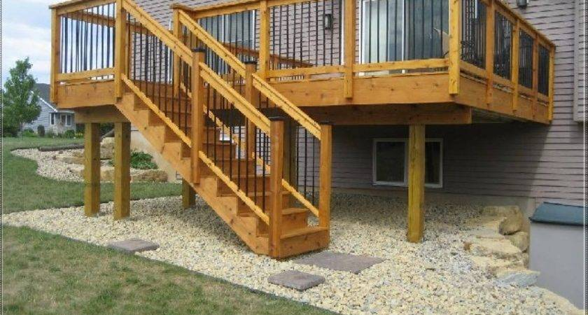 Raised Deck Plans Elevated Wood