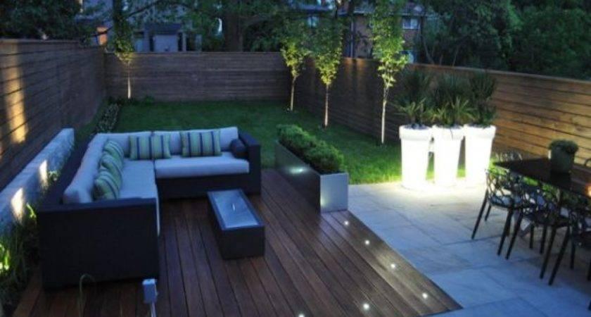 Raised Platforms Modern Backyard Deck Design Ideas