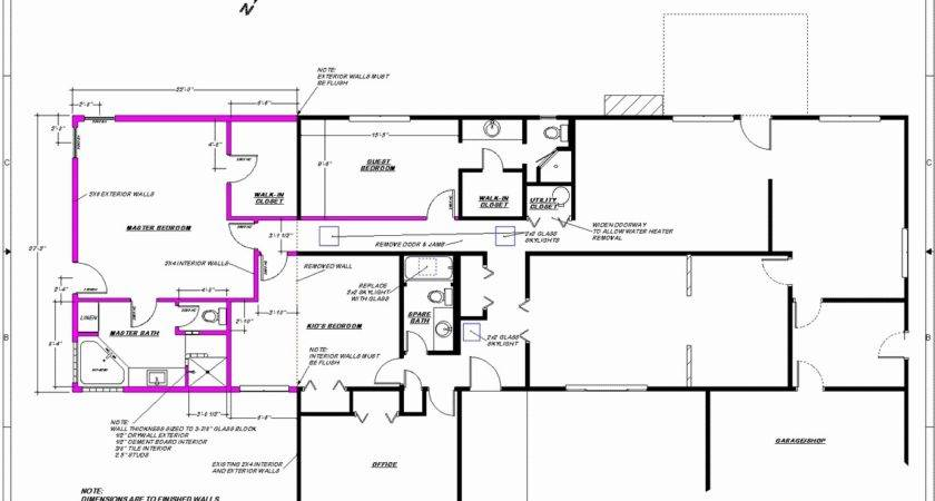 Ranch Addition Floor Plans Before After Adding Second