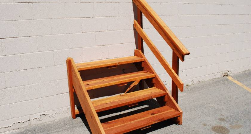 Ready Made Outdoor Stairs Deck Stair Redwood Store