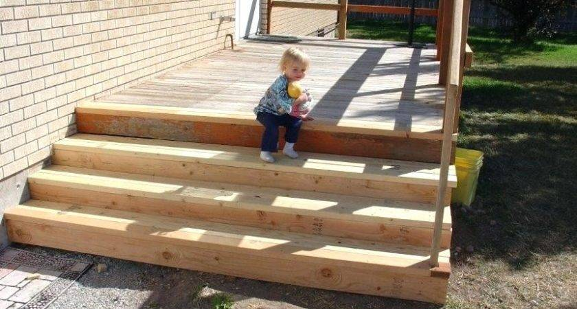 Ready Made Outdoor Wooden Steps Pre