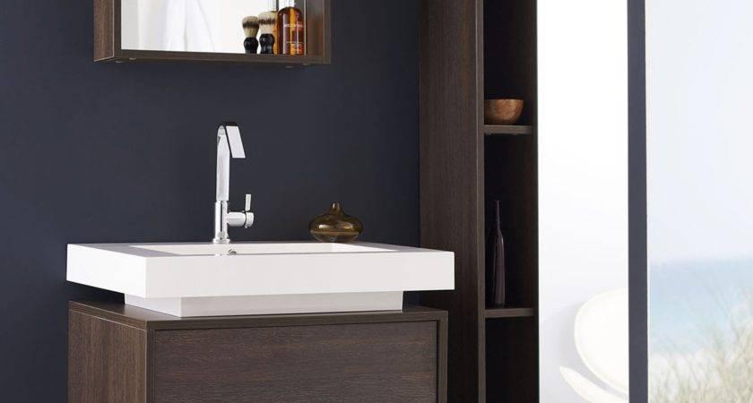 Recess Designer Modular Bathroom Furniture Collection