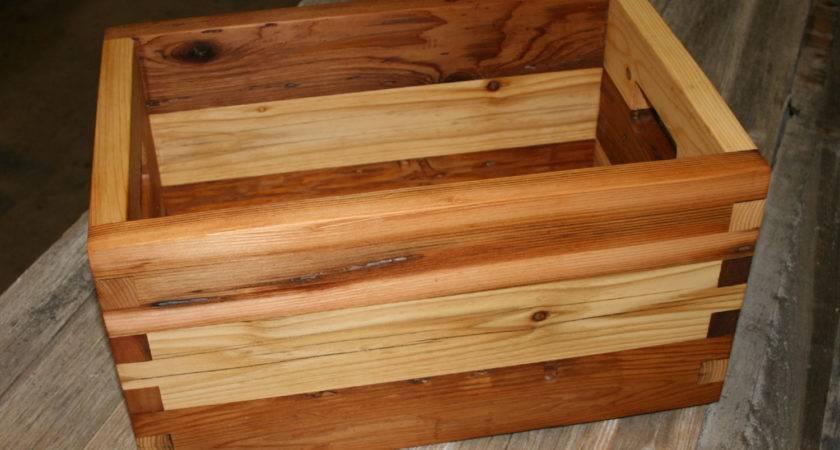 Reclaimed Cedar Box Joint Crate Medium Lunarcanyon Etsy